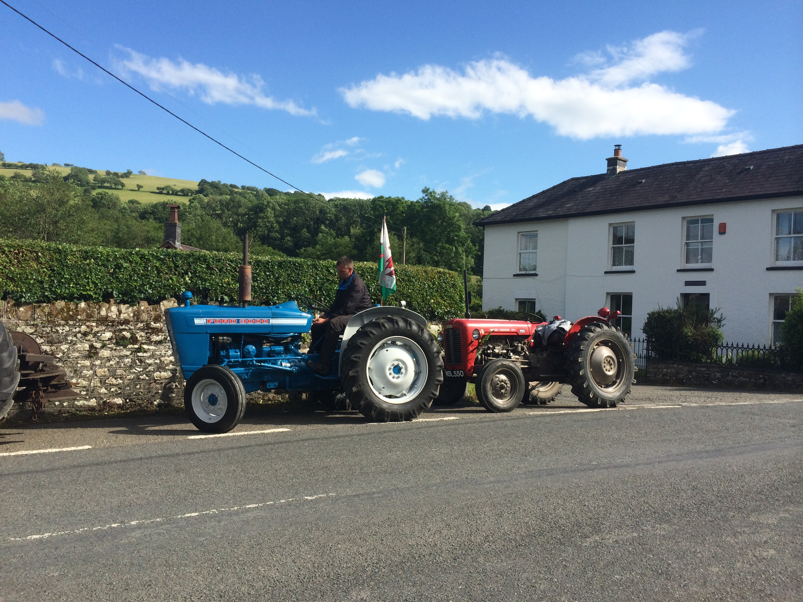 Tractors outside the Forest Arms pub!